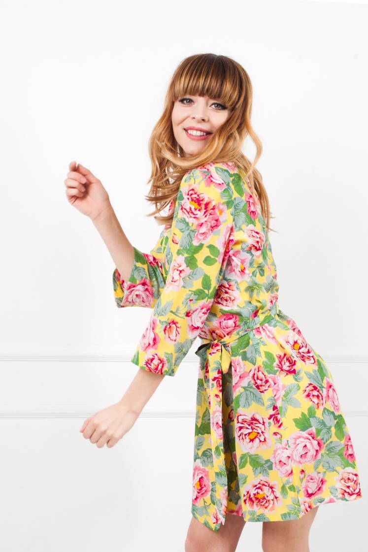 Diana Yellow Robe | bunnystreet.com
